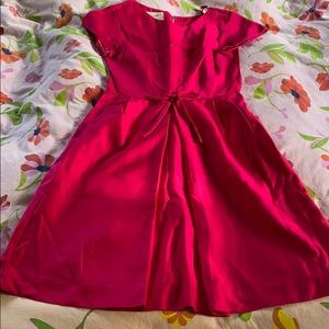 Vintage deep pink 1960's dress with bow